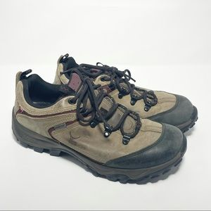 Ecco Yak Gore-Tex Leather Upper Lace Up Brown Hiking Sneakers